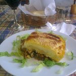 Moussaka...Andreas` s own recipe. very light and tasty