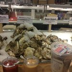Fresh oysters...one of the many fresh seafood items they carry in the store
