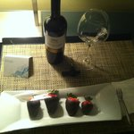 Complementary treats delivered to my room!