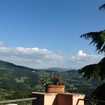 Patio at LaPaggeria, view is wonderful