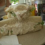 chicken mayonnaise sandwich from the cafe