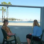 And our terrace with view of the beach/marina