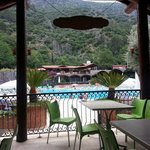  View from the snack bar overlooking the main swimming pool