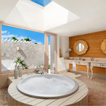 Golden Shell Suite Bathroom Indoor Jacuzzi