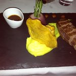  Duck breast with potato and saffron puree