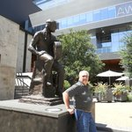 Bronze Willie Nelson statue in front of ACL Moody Theatre