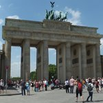 Brandenburg Gate, Jessica nearest camera
