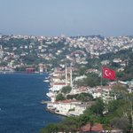 Bosphorus view from hanging bridge