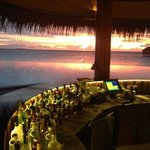 sand bar at sunset from the bar