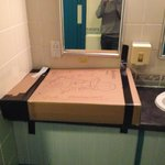 Mens changing room for swimming pool faulty sink!!