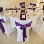  one of our tables in the function room