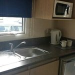 Kitchen area in standard plus caravan
