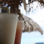 pina colada and rum punch deliverd to us on the beach. it doesnt get better than this!