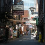 Printer's Alley is about 25 steps from the front door of the hotel!!