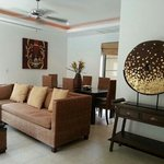 3 bedroom villa - living room and dining room.