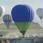 Morning hot air balloons in Cappadocai