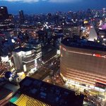  Nighttime in Osaka from Swissotel Nankai