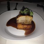 Pork belly with mascarpone grit cake!!