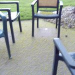 Second room patio no dirty wash cloths out there,but needs a good sweeping &window washing