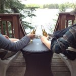  A lot of quiet evenings start and end on our lakeside decks.  Timber Wolf Lodge is a great place