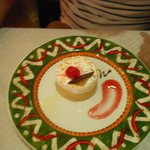 tres leche cake at Mexico Lindo restaurant