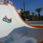  One of the rides in the waterpark
