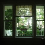 View of the front porch from the sitting room.