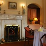 dining in a country house northern ireland with open fire