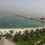 the view from my room in the Radisson Blu Sharjah