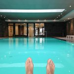 Big heated pool open until 10pm with sauna hammam fitness massage