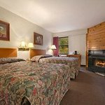  Standard Two Double Bed Room with Fireplace