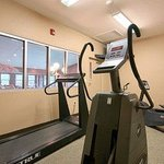Enjoy a workout in our exercise room, featuring all new equipment