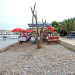  Beach seating at the &quot;Jadran&quot; Budva