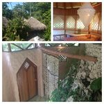 Coral Cabana: view from 2nd floor deck, 2nd bedroom & looking downstairs to the amazing shower