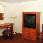 Newly renovated guest rooms with fridge and work d
