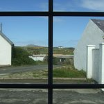 This is the view of Holyhead Mountain from the cottage.