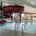 Indoor Pool, hot tub and Waterslide