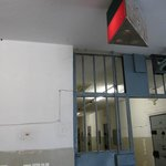 Prisoner transport system (traffic lights) and emergency alarm (wires on wall)