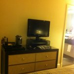 Dresser w/TV & coffee/tea service