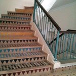 Staircase with Moroccan tiling