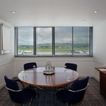 Sky Suite meeting room with views over Glasgow Airport