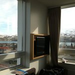 Two windows, panoramic views of the fjord