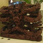 Wooden Carving in Lobby