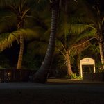 Night Shot of Beachfront Entrance