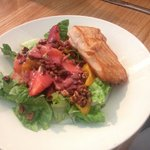 Petite Painted Salad with Salmon