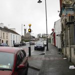 Looking down the main street of Mohill, a 1 minute walk from the Laurels.