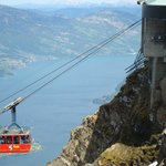 View of the cableway on the top