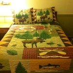 cute bedspread in room 6