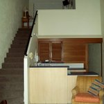 kitchen and up stairs bedroom. 2 bedroom apartment