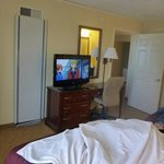 bedroom and tv